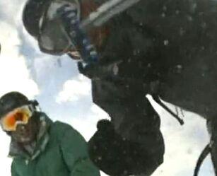 image: Filmet at han selv ble tatt av snøskred