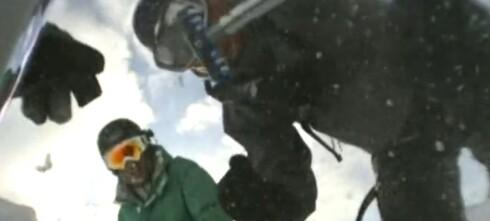 Filmet at han selv ble tatt av snøskred