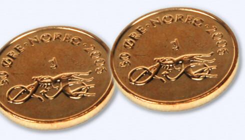 Norges Bank vurderer nå om 50-øringen bør fjernes. Hvert år forsvinner et betydelig antall mynter fordi folk ikke bruker den lille mynten. Foto: Kim Jansson