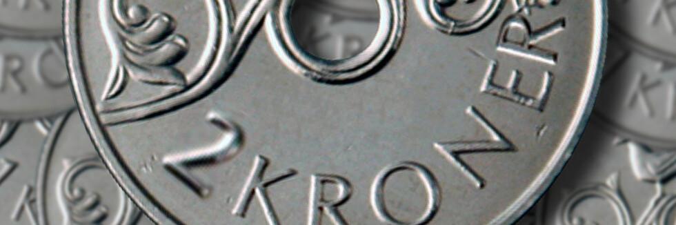 Om 50-øringen forsvinner, kan Norge få en ny mynt. Hva synes du om en 2-krone? Foto: Per Ervland