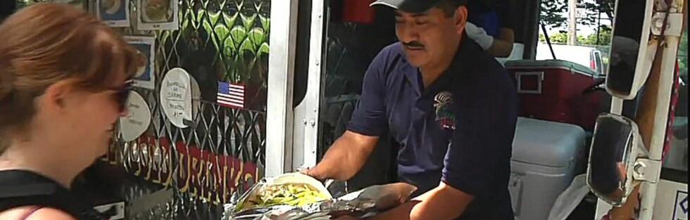 Fernando Martinez og kona serverer meksikansk bondekost til seks dollar. Foto: Vendy Awards