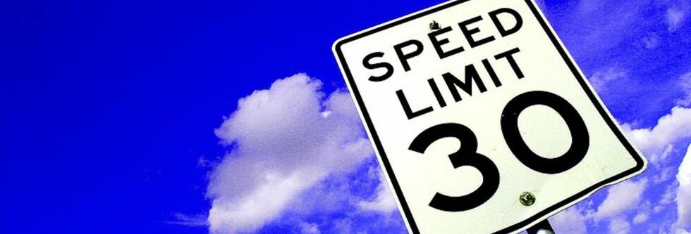 Hvor fort kan du kjøre her i km/t? Foto: Wikipedia Commons