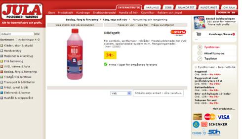 34 kr: Hos Jula får du et tilsvarende produkt for 34 kroner.
