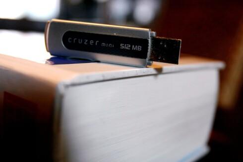 Det er nok ikke mye plass på denne minnepennen, men heldigvis finnes det større alternativer. Foto: Colourbox.com