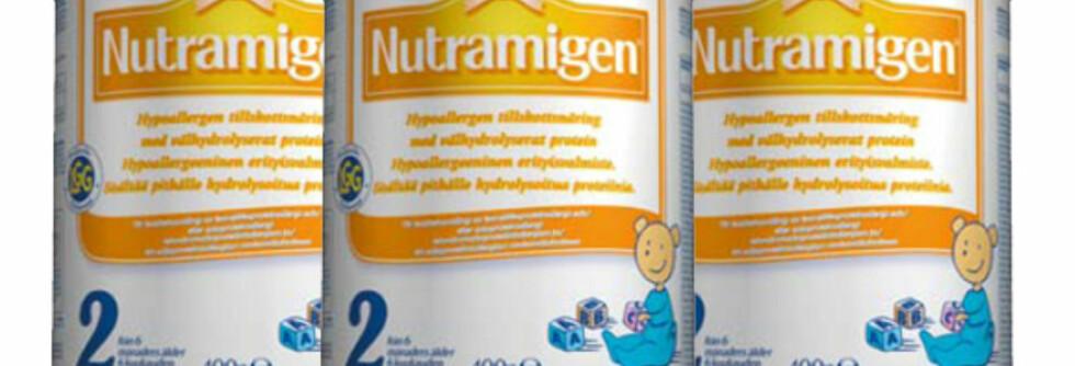 MED LGG: Nutramigen 2 er beregnet til sped- og småbarn (fra 6-månedersalderen) med kumelk- og/eller soyaproteinallergi. Foto: Mead Johnson
