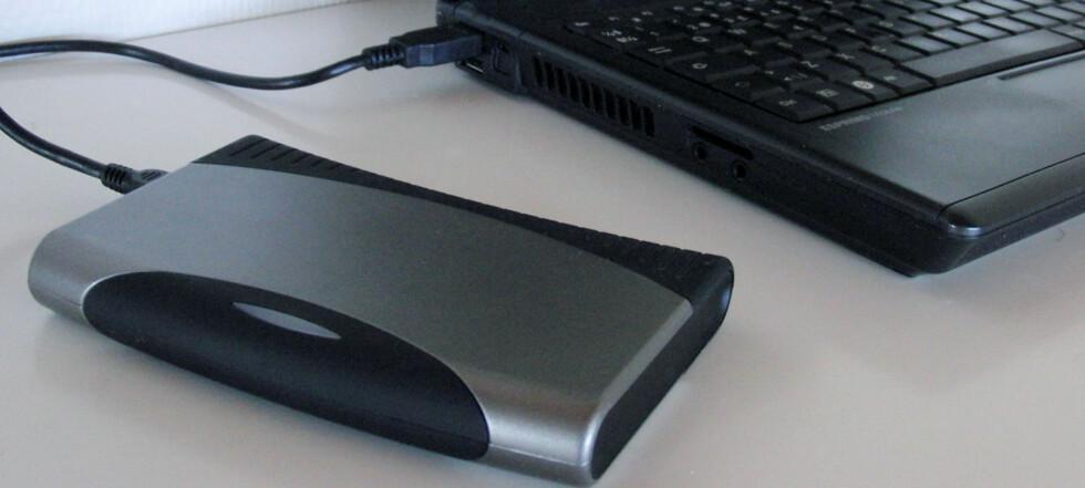 Mange flytter plasskrevende data over på en ekstern harddisk når den nye PC-en kommer med SSD med begrenset lagringsplass.  Foto: Bjørn Eirik Loftås