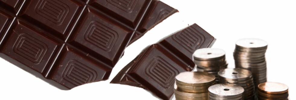 ANTIOKSIDANTER: Det finnes mer flavonoider i billig mørk sjokolade, ifølge matekspert på Samvirke.dk. Foto: Montasje Colourbox