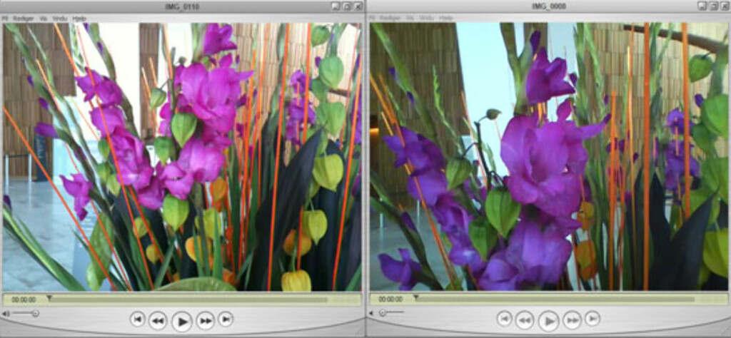 iPhone 3GS til venstre, iPod Nano til høyre