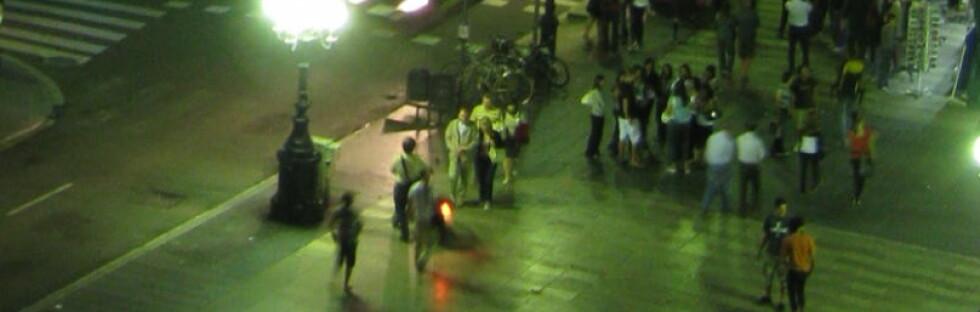 Når kvelden kommer dukke de prostituerte opp på La Rambla. (Dette bildet er et illustrasjonsfoto fra La Rambla.) Foto: Wikipedia