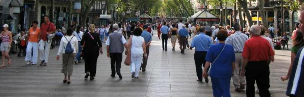 Lommetyvene florerer i Barcelona, og sørlig langs La Rambla. Foto: Wikipedia