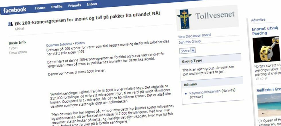 Facebook-gruppa som protesterer mot 200-kronersgrensen får stadig flere medlemmer.