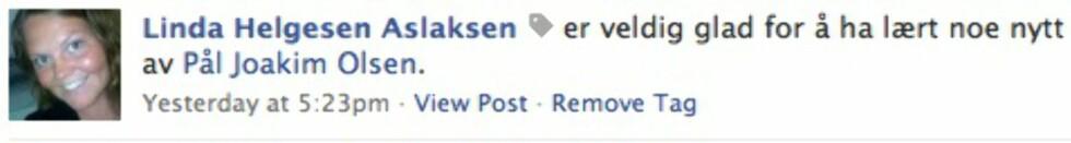 Facebook lar deg tagge i statusfeltet