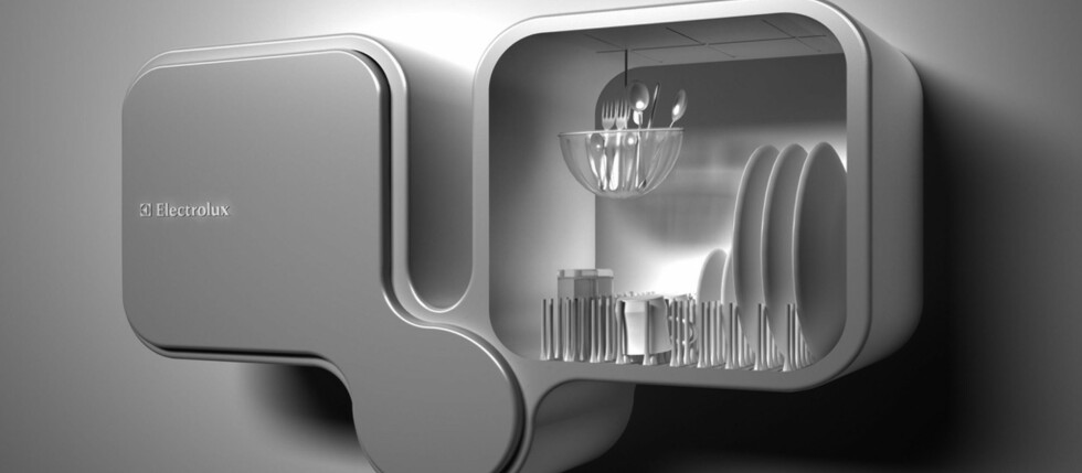 Denne oppvaskmaskinen er et av finalebidragene i Electrolux sin årlige designkonkurranse Design Lab. Foto: Electrolux