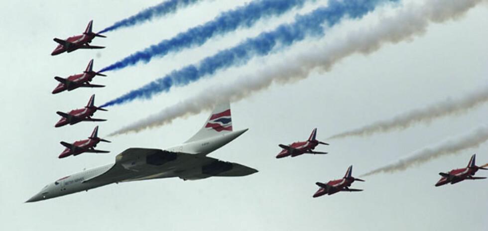 Concorde var British Airways store stolthet. Her fra en oppvisningstur. Foto: British Airways