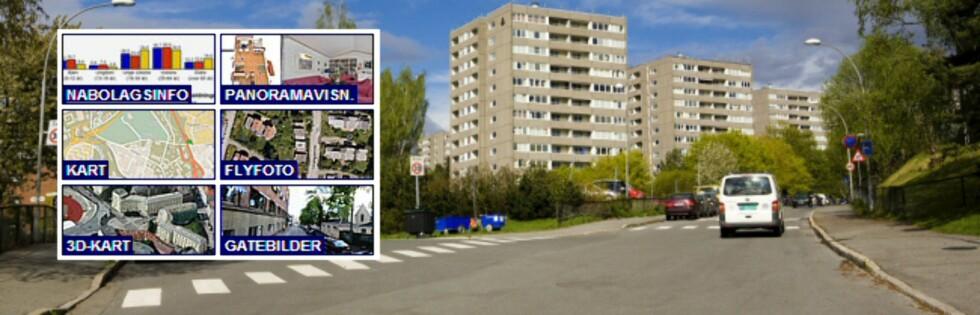 """Verktøykassen for å presentere boliger til salgs blir stadig større. Vi liker """"nabolagsinformasjonen"""" du kan få på finn.no. Foto: Per Ervland / Finn.no"""