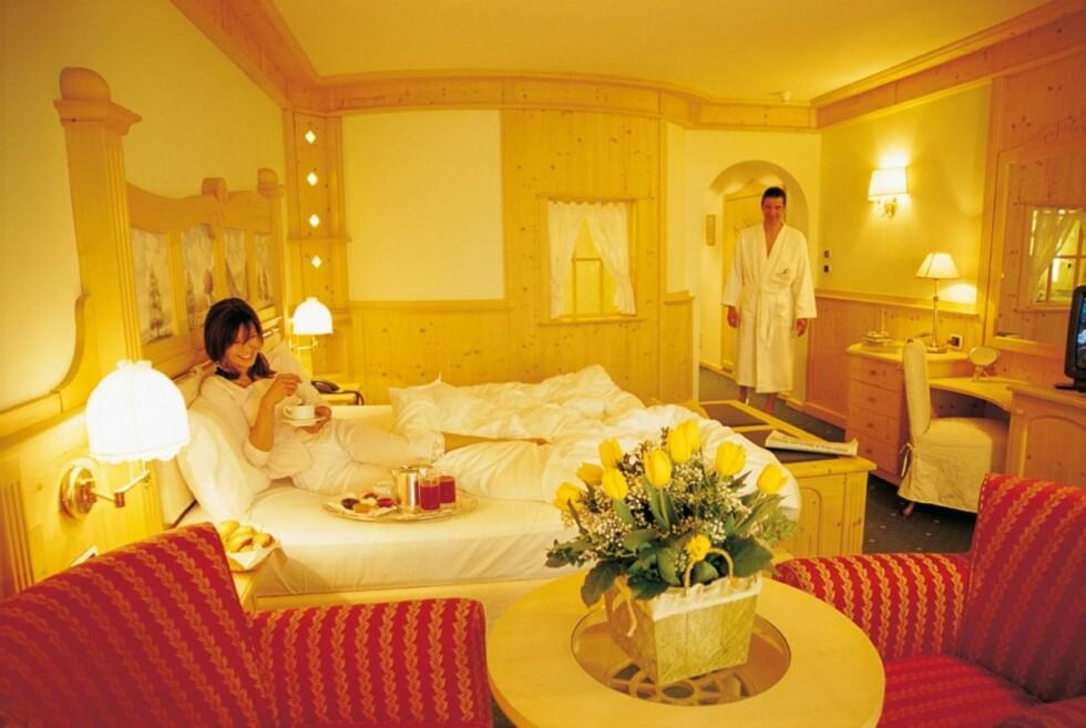 Og slik sover du på Adler Dolomite Spa & Sport Resort.  Foto: Adler Dolomite Spa & Sport Resort
