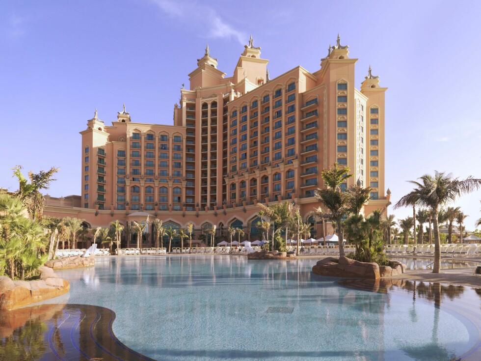 Atlantis The Palm er flaggskipet på den kunstige øya The Palm i Dubai. Foto: Atlantis, The Palm