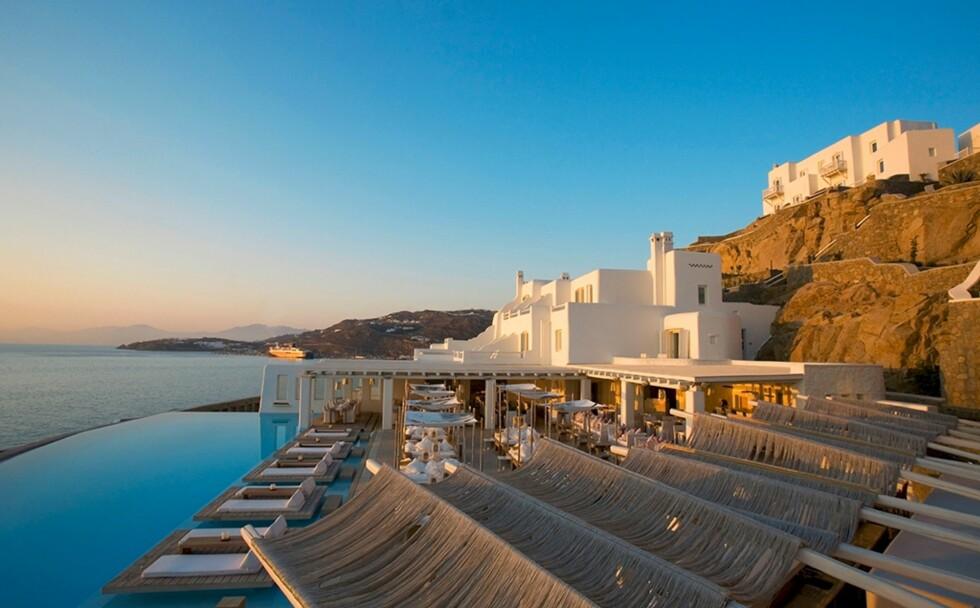 Cavo Tagoo er et femstjernerners hotell på den greske øya Myonos. Foto: Hotel Cavo Tagoo