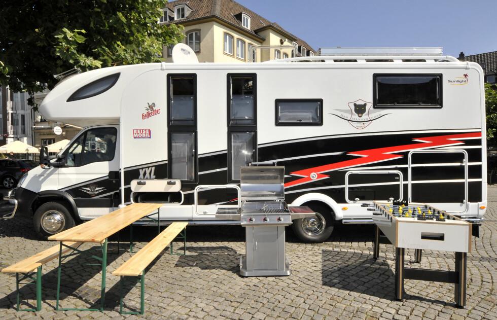 Hvorfor ha avanserte kjøkkenfasiliteter inne, når man kan være ute? Foto: Rene Tillmann /Messe Duesseldorf