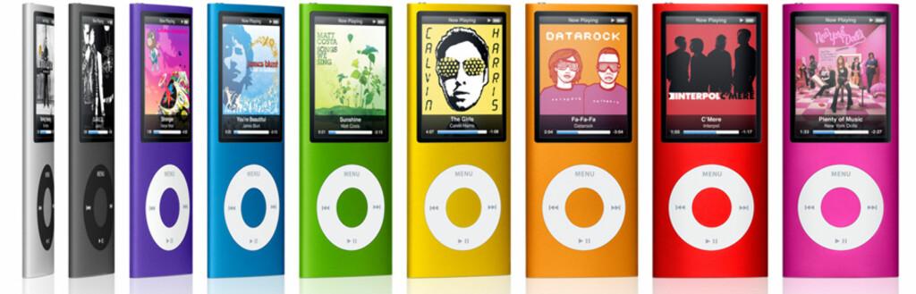Etter 10,5 timer har en gjennomsnittsarbeider i Oslo råd til en slik iPod nano, ifølge den sveitsiske banken USB. Foto: Apple