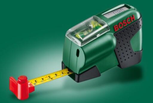 LASERVATER: Enkel og manuell modell med én laserstråle (og innbygd målebånd med digital avlesing)