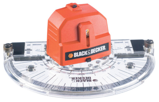 VINKELLASER: Med gradskive og mulighet for valg av 0 til 180 graders vinkel, produserer én laserstråle