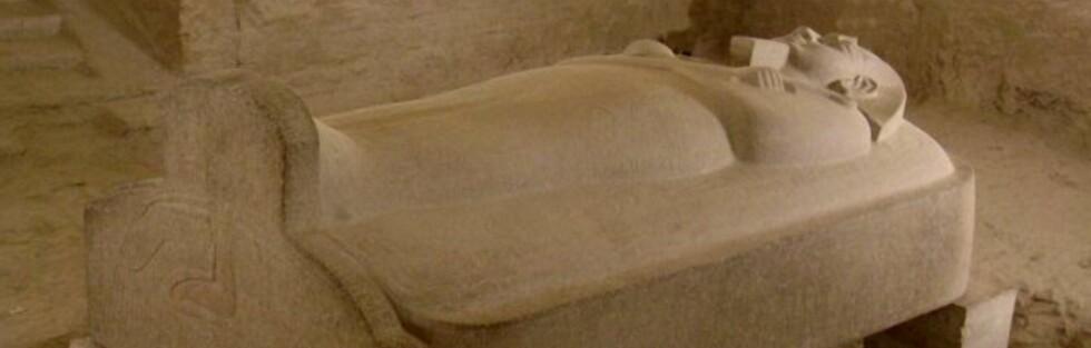 Faraoenes gravkamre har en mystisk tiltrekningskraft. Her sarkofagen til Merenptah i gravkammer KV8. Foto: Wikipedia Commons