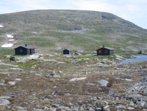 Gappohytta ligger flott til på høyfjellet. Foto: Ole Wille/Tuirstforeningen