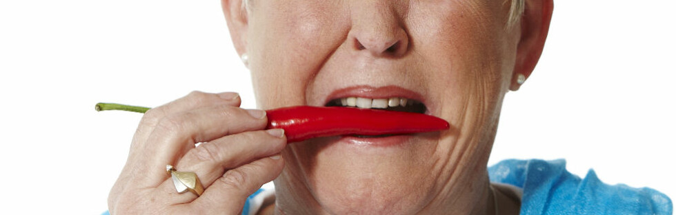 HOT ELLER NOT? Folk som tåler veldig sterk mat har utviklet en toleranse - og altså ikke ødelagt smaksløkene sine. Hvor mye tåler du? Foto: Colourbox.com