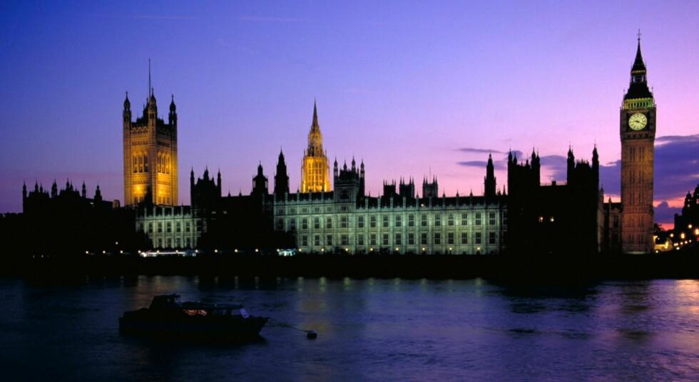 Westminster med Big Ben. maktsentrum i Storbritannia, og et klassisk turistmål. Foto: Britain on View