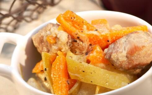Du trenger sink fra for eksempel kjøtt for å kunne ta opp de sunne stoffene i gulrøttene.