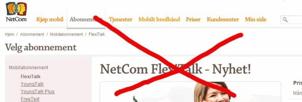 Kan forsvinne: Abonnementer som Netcoms FlexiTalk kan forsvinne, om Forbrukerombudet får det som de vil.