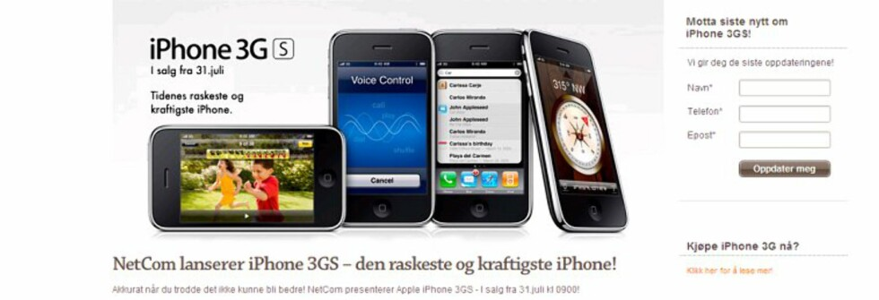 Julaften om sommeren: Det er en stor dag for gadgetfolket når det Netcom tirsdag offentliggjorde prisene på den nye iPhone 3GS.