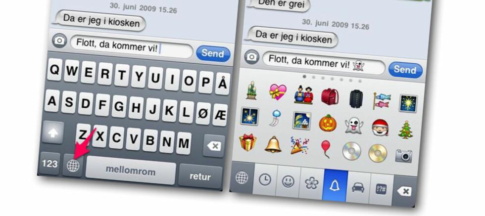 Slik får du smileys på iPhone