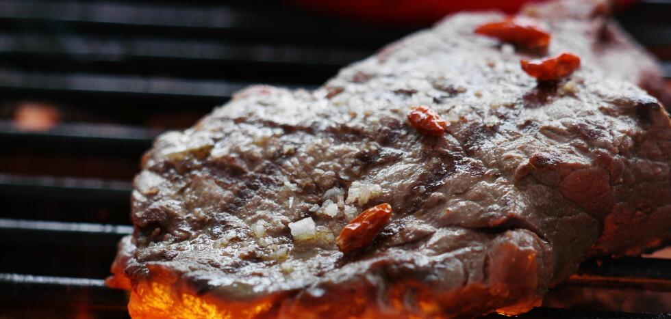 Nå i grillsesongen er faren for å bli smittet med campylobacter og få diaré aller størst. Foto: colourbox.com