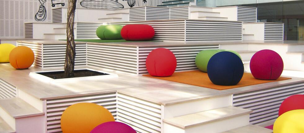Niels Torp AS har laget denne løsningen for ICAs hovedkontor i Oslo. Foto: Niels Torp