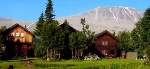 Rjukan Vandrerhjem ligger flott til med utsikt til Gaustatoppen.  Foto: Norske Vandrerhjem