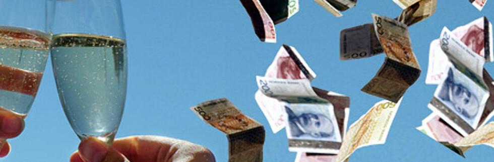 Det føles som om pengene regner ned fra himmelen på denne tiden av året. Da trenger du en spareguide. Foto: Illustrasjon: Per Ervland