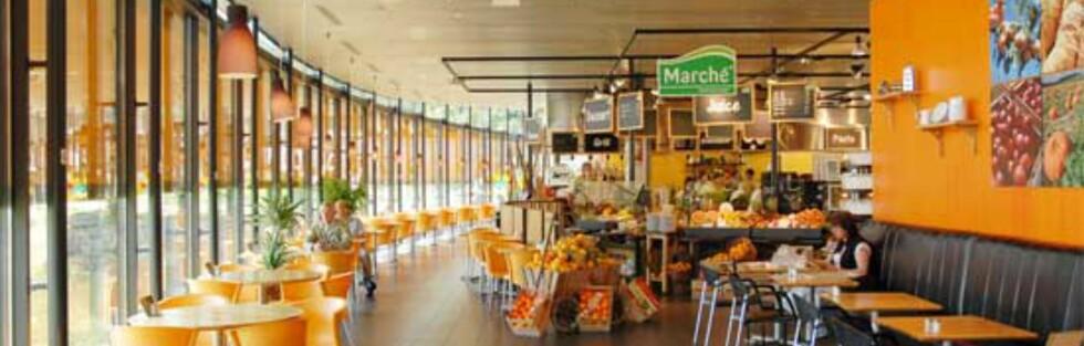 Marché i Lier er en av veikroene som får toppkarakter av sjåførene. Foto: Marché