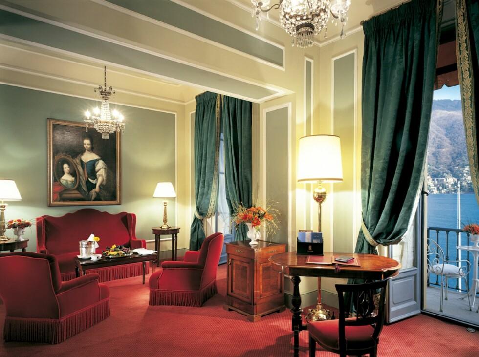 Fra salongen i en av suitene. Foto: Villa d'Este