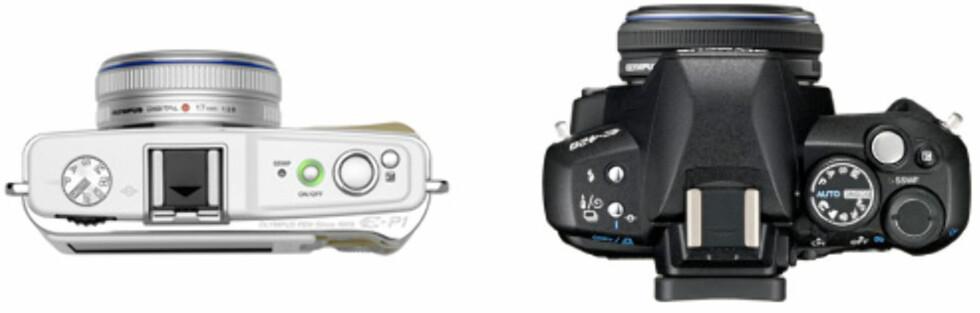 E-P1 til venstre, E-450 til høyre.