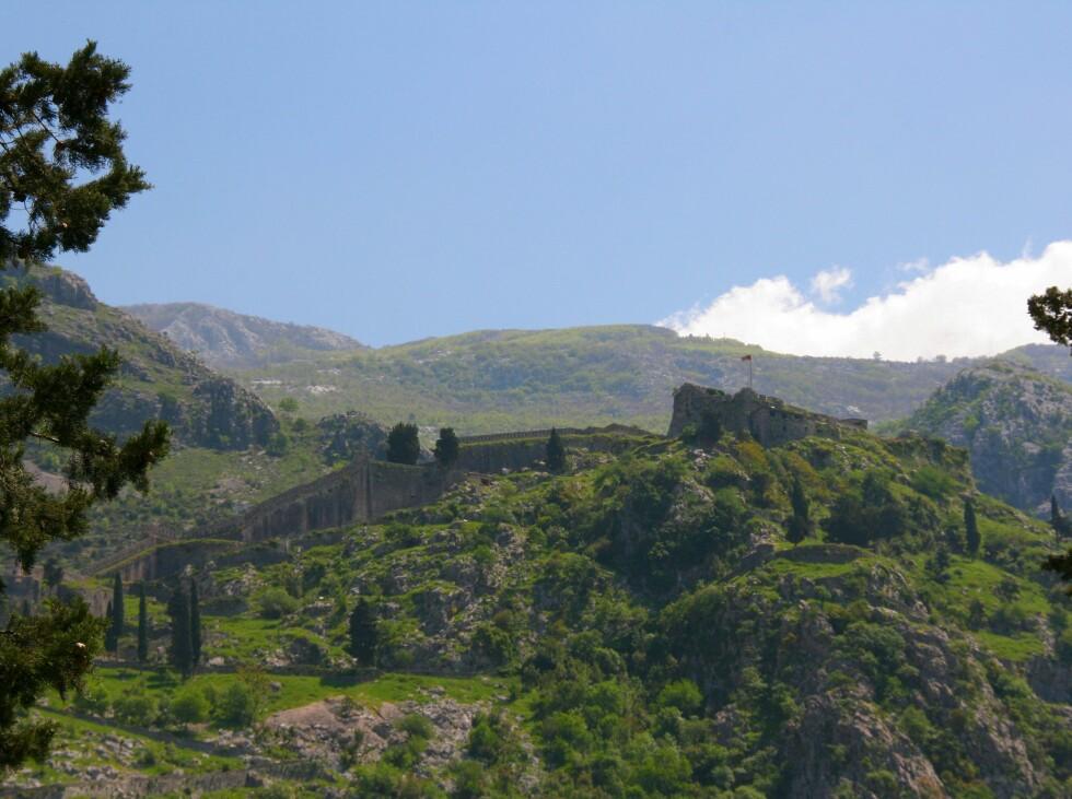 Fortet ovenfor Kotors gamleby. Herfra speidet de etter tyrkiske pirater. Foto: Stine Okkelmo