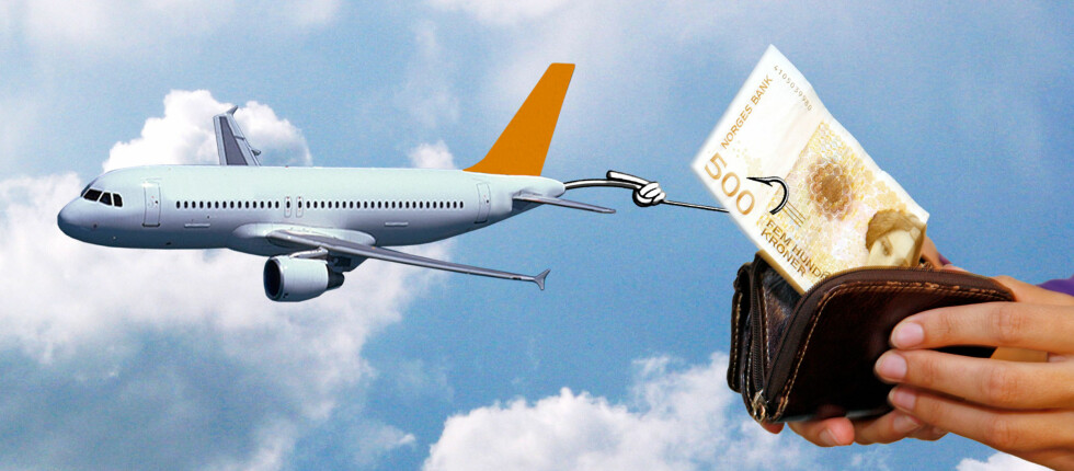 STORE BELØP: Andre ting enn billettprisen blir stadig viktigere for flyselskapene. Og beløpene er solide. Foto: Per Ervland