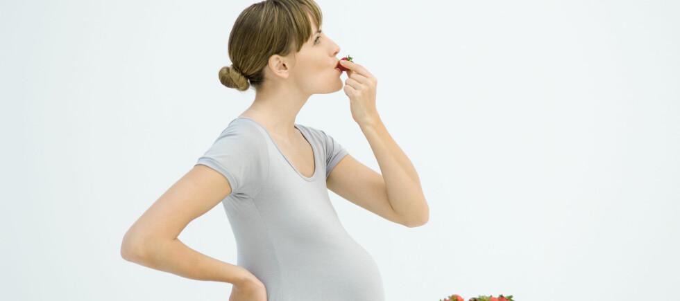 Det du putter inn i munnen under svangerskapet, vil ha noe å si for det som kommer ut ni måneder senere.  Foto: Colourbox.com
