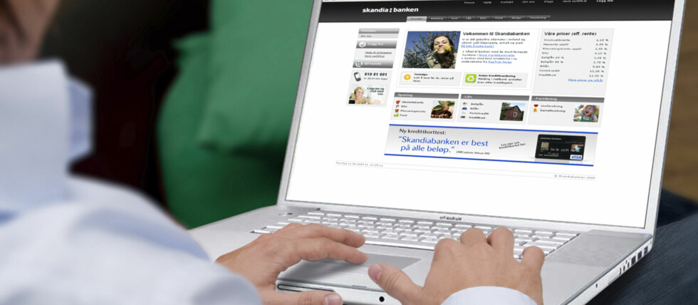 Med et par tastetrykk kan andre nå disponere kontoen din - hvis begge har konto i samme bank.  Foto: Skandiabanken