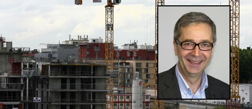 Bjørn Erik Øye i Prognosesenteret frykter at langvarig nedgang i boligbygging kan føre til en ny prisgalopp på boligmarkedet.  Foto: Colourbox/Prognosesenteret