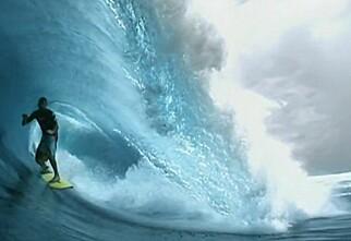 Unik filming av surfer...