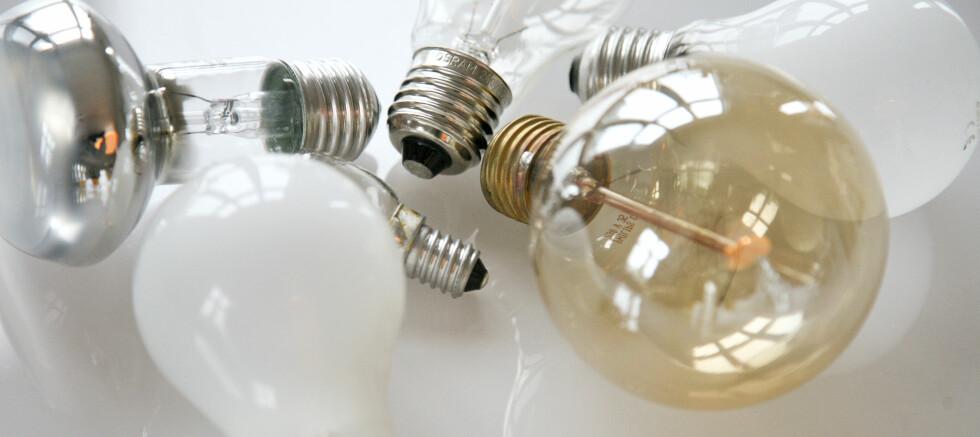 Det er de matte lyspærene som nå skal ut.  Foto: Colourbox.com