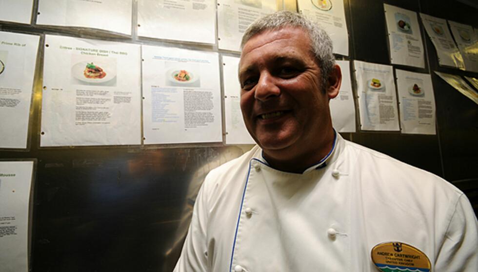 Andrew Cartwright er sjefen for et kjøkken av dimensjoner.  Foto: Hans Kristian Krogh-Hanssen