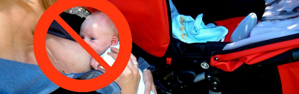 Til Kypros i ferien? Tenk deg om før du mater babyen offentlig ... Foto: Colourbox